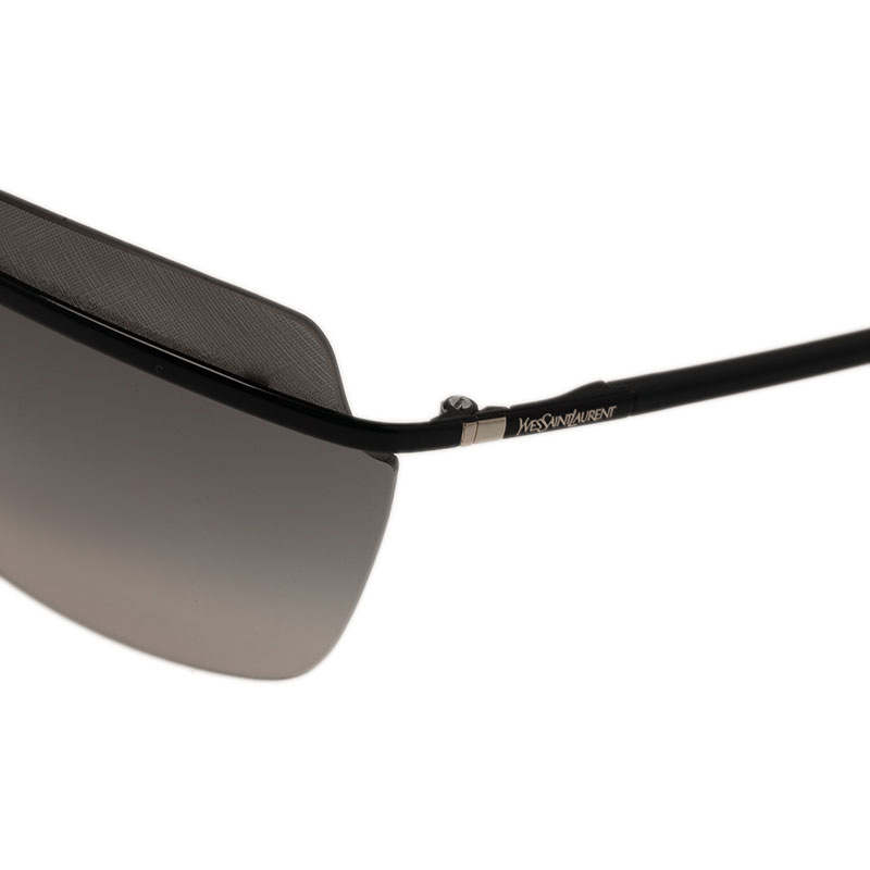Saint Laurent Paris Black 6361 Rimless Sunglasses
