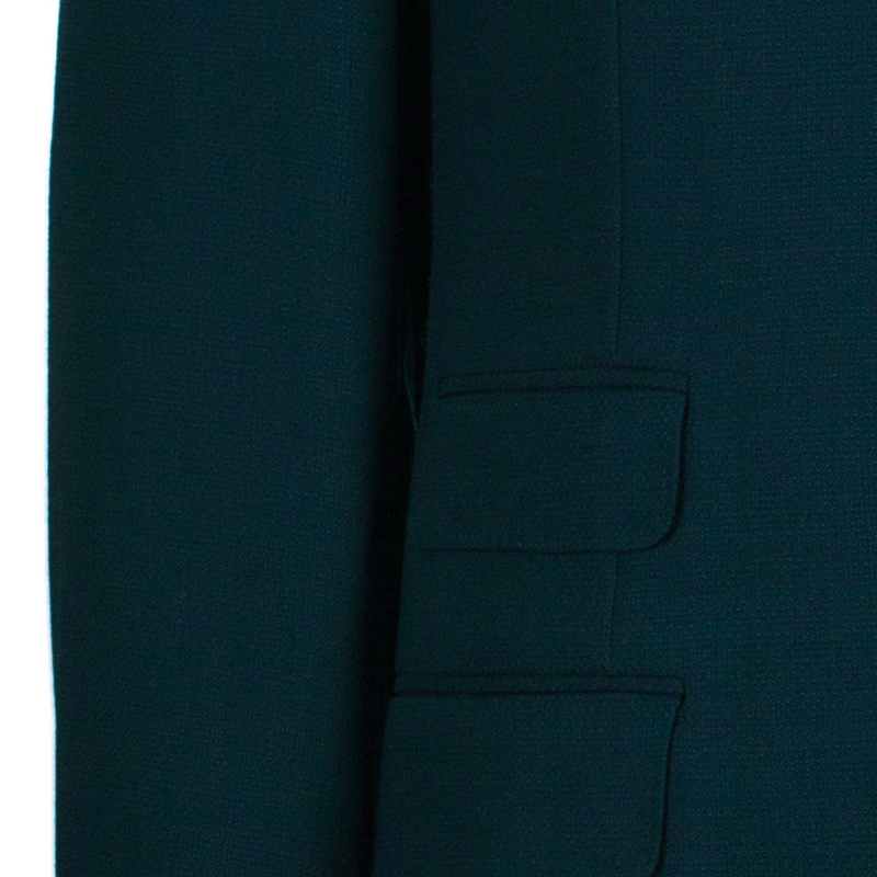 Celine Men's Dark Moss Green Wool Blazer L