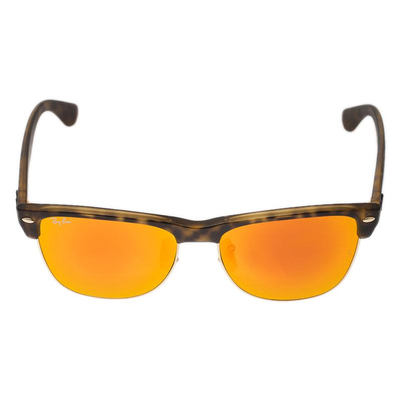 Ray Ban Orange RB4175 Clubmaster Oversized Sunglasses