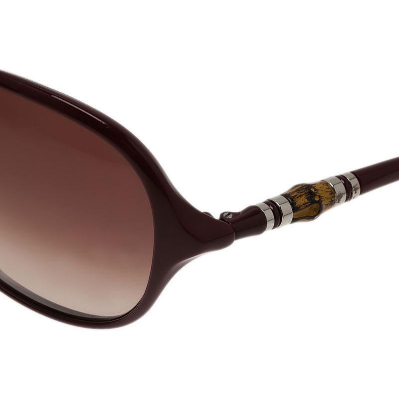 Gucci Red GG 3210 Bamboo Square Sunglasses