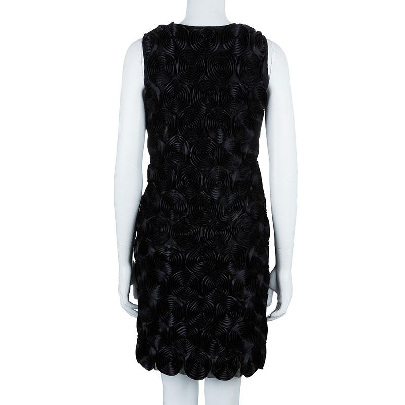 Burberry Prorsum Spiral Rosette Black Dress M