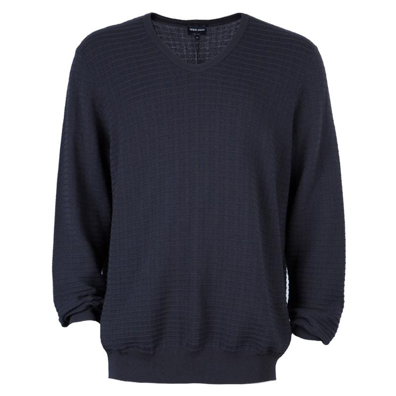 Giorgio Armani Men's Charcoal Knit Sweater XXL
