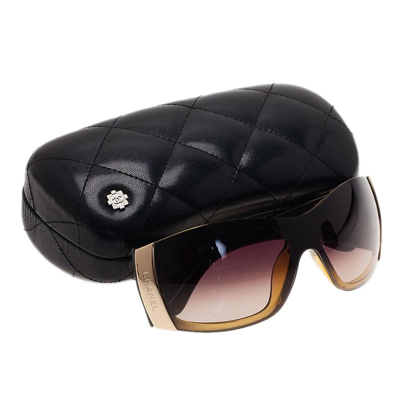 Chanel Brown 6009 Shield Sunglasses