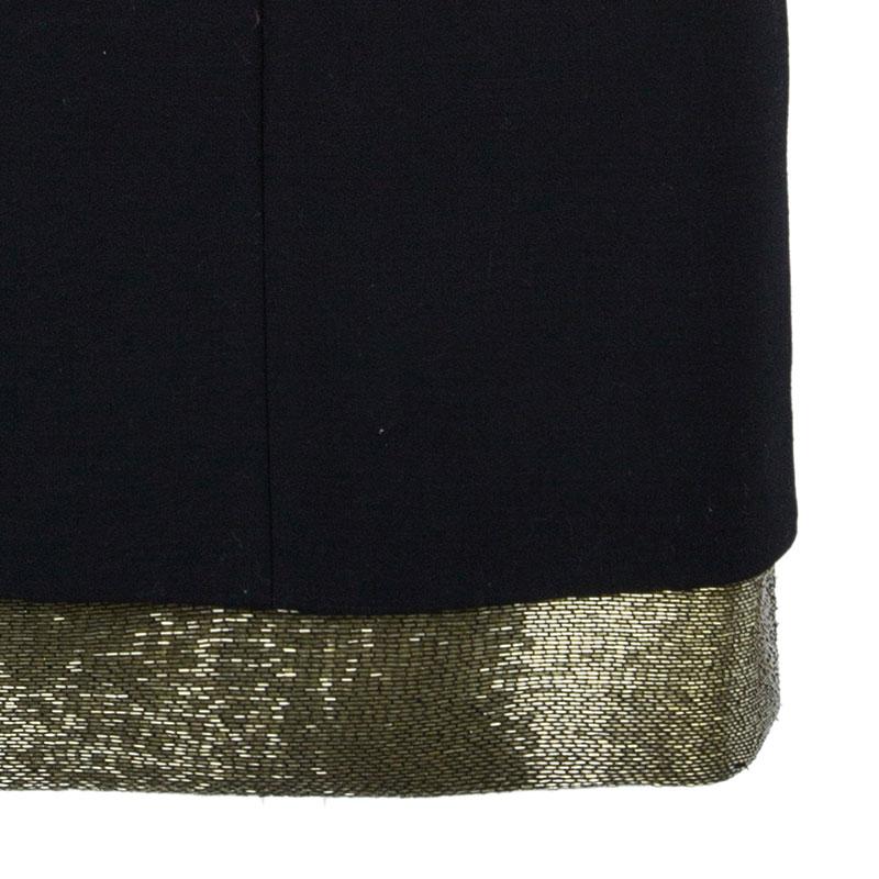 Emilio Pucci Black Shoulder Detail Dress S