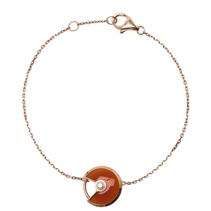 Cartier Amulette De Cartier Carnelian Pink Gold Bracelet