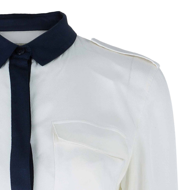 Burberry Colorblock Silk Shirt S