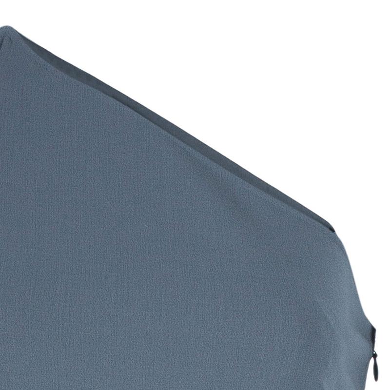 Michael Kors Grey One Shoulder Dress S