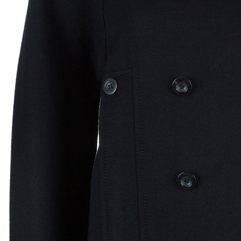 Gucci Black Wool Double Breasted Coat M
