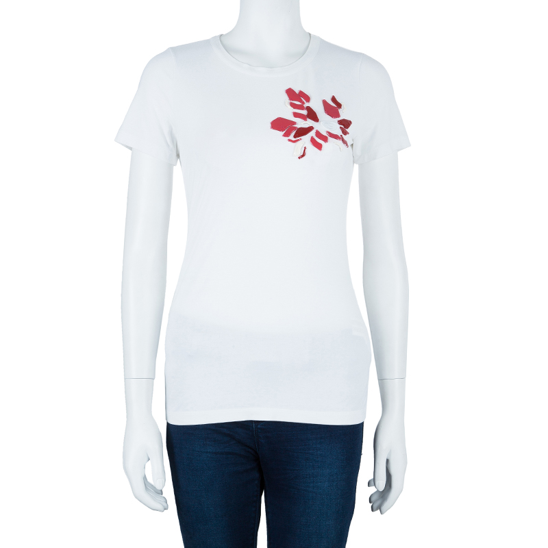 Gucci Embellished White T-Shirt S