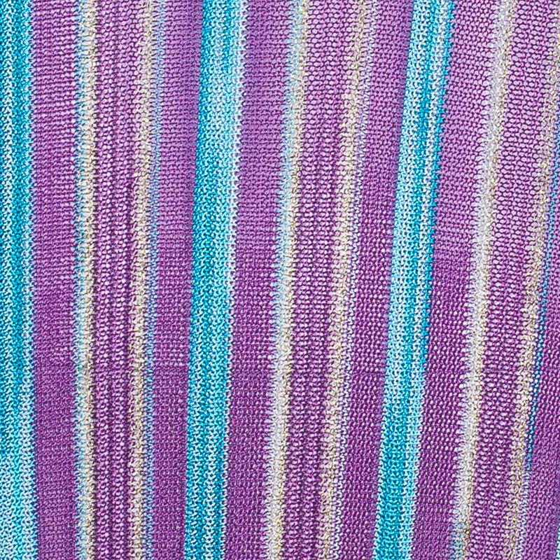 Missoni Blue Patterned Knit Maxi Dress M