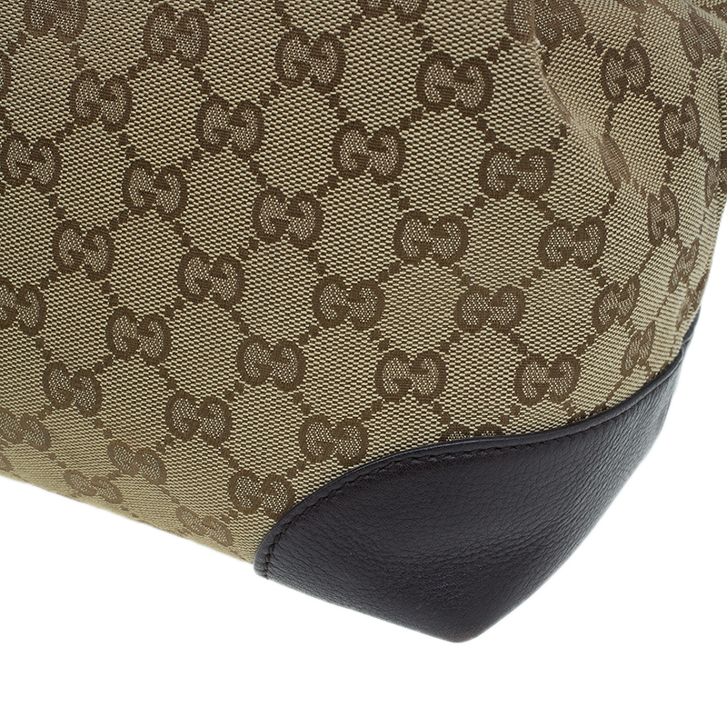 Gucci Beige/Brown Monogram Canvas Dressage Original GG Tote Bag