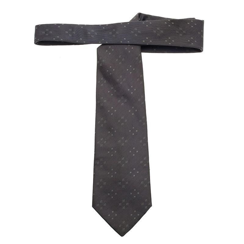 Louis Vuitton Grey Silk Tie