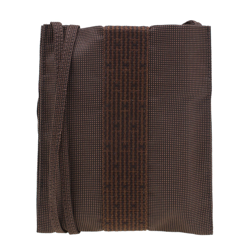 Hermes Herline Brown Canvas Cross-body Pouch Pochette