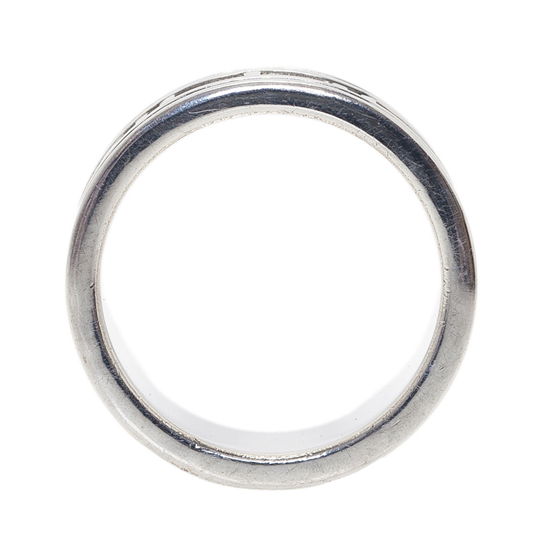 Tiffany & Co. Atlas Silver Band Ring Size 50