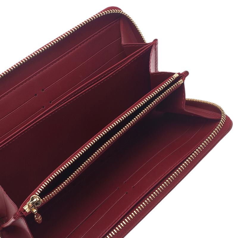 Louis Vuitton Red Monogram Vernis Zip Around Wallet