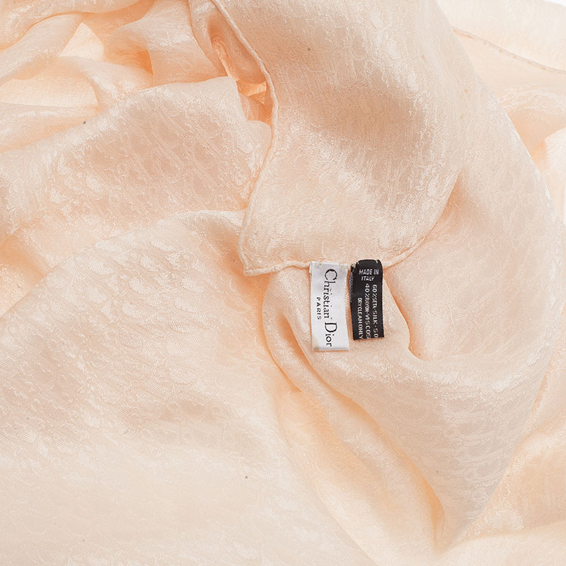 Dior Beige Silk Monogram Stole
