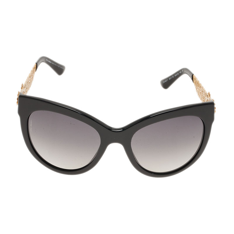 Dolce Gabbana Filigree Sunglasses  dolce and gabbana black filigree cat eye sunglasses lc