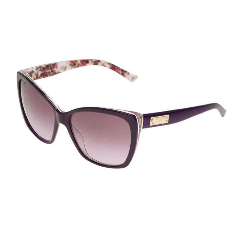 Dolce and Gabbana Violet DG4111 Cat Eye Sunglasses