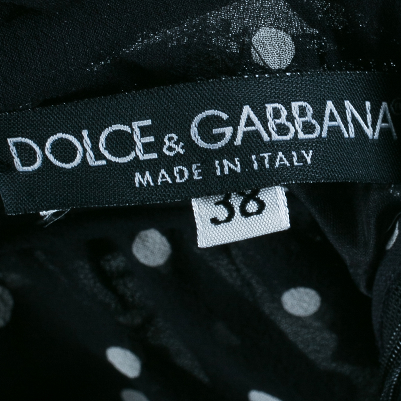 Dolce and Gabbana Chiffon Halter Polka-dot Top S