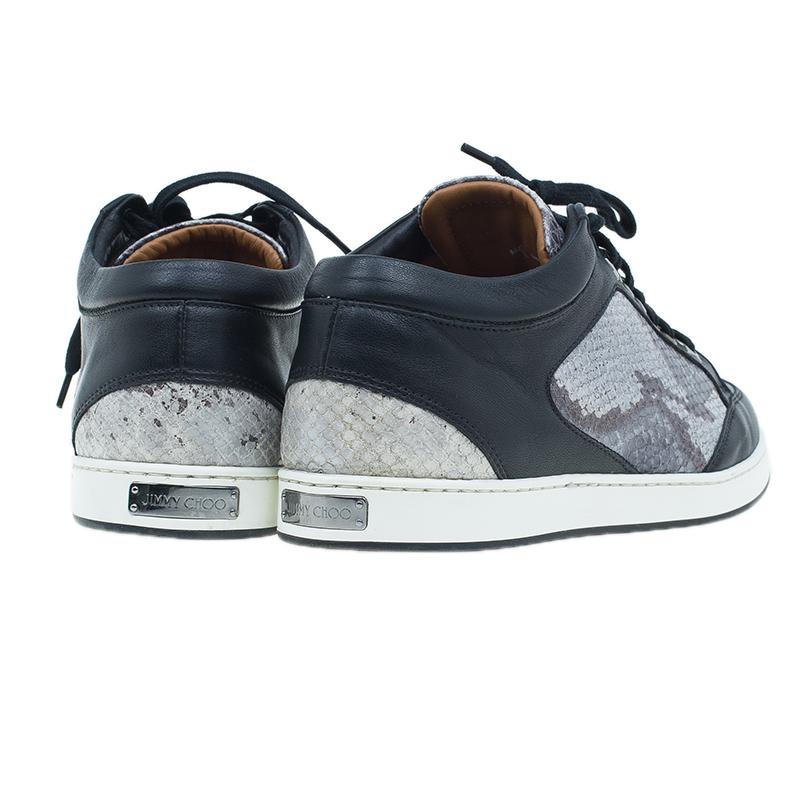 Jimmy Choo Two Tone Snake Print Miami Sneakers Size 39