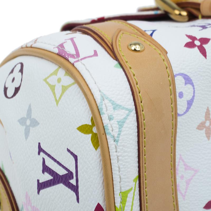 Louis Vuitton White Monogram Multicolor Canvas Priscilla Satchel Bag
