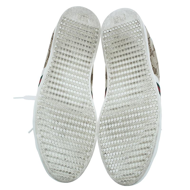 Gucci Guccissima Canvas Web Detail Sneakers Size 38.5