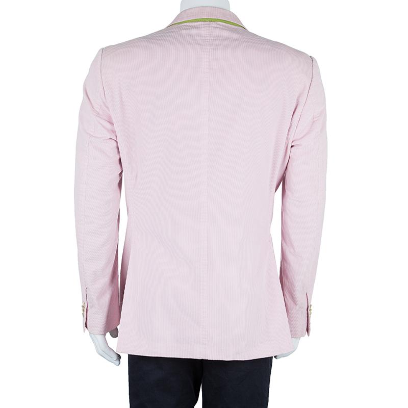 Etro Men's Pastel Pink Corduroy Blazer XXL