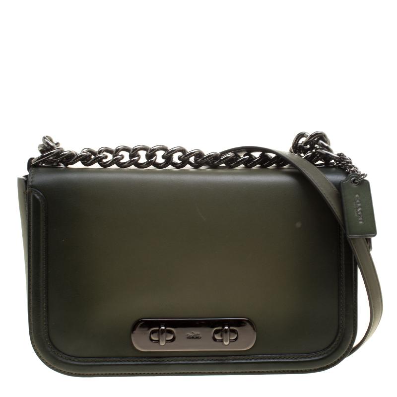 ... australia coach olive green leather swagger shoulder bag. nextprev.  prevnext 6bf08 5b33d 3d9bed045bf91