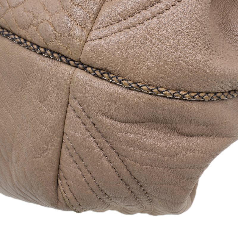Fendi Beige Nappa Leather Baby Spy Bag