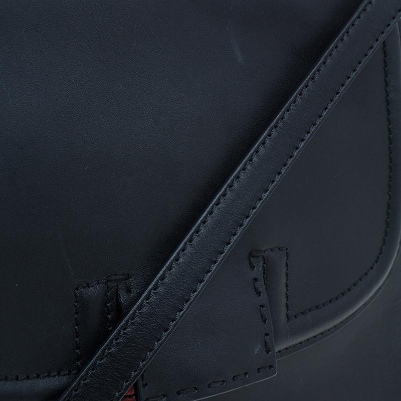 Fendi Black Tri Color Leather Silvana Shoulder Bag