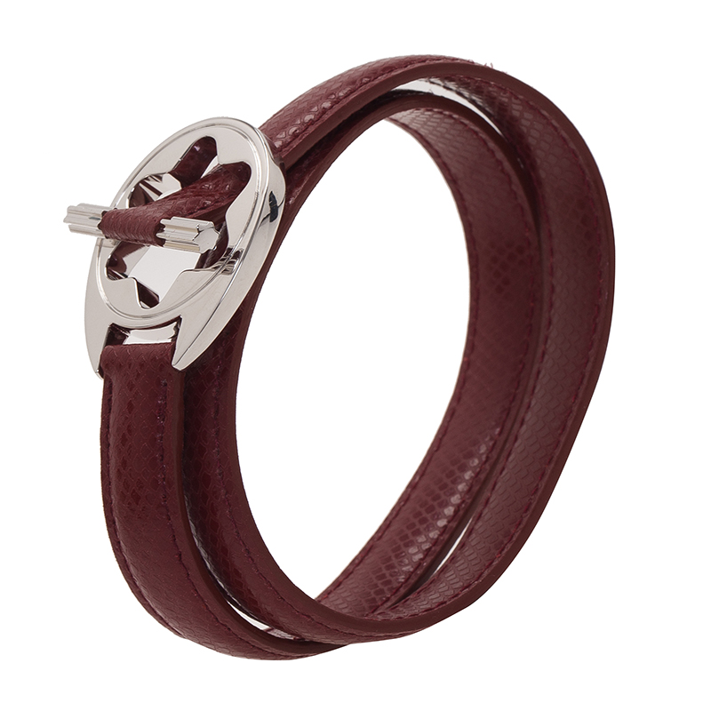 montblanc hold me tight red leather silver bracelet buy sell lc. Black Bedroom Furniture Sets. Home Design Ideas