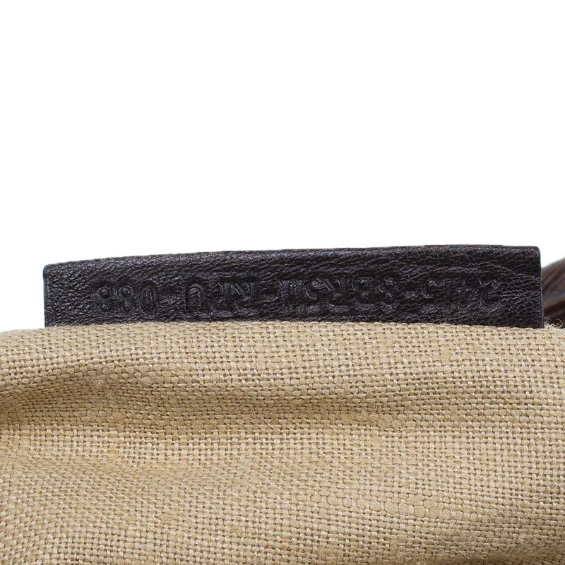 Fendi Brown Leather Canvas Limited Edition Tortoise Spy Bag