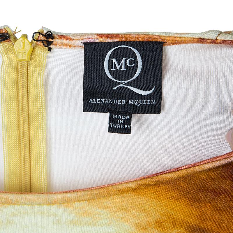 McQ by Alexander McQueen Mineral Print Silk Dress S