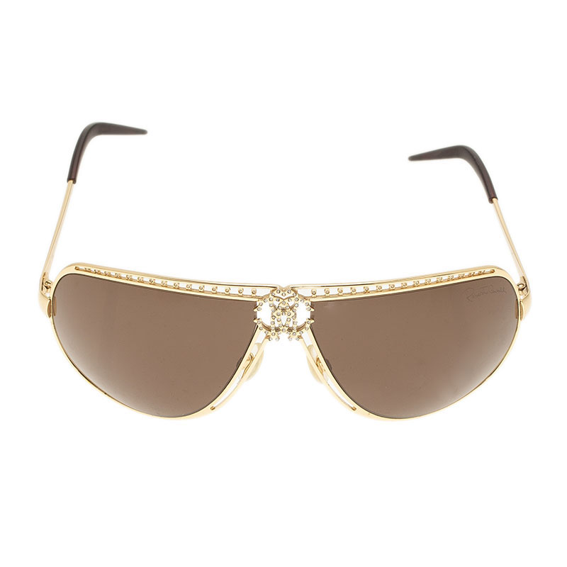 Roberto Cavalli Gold Agenore 305S Sunglasses