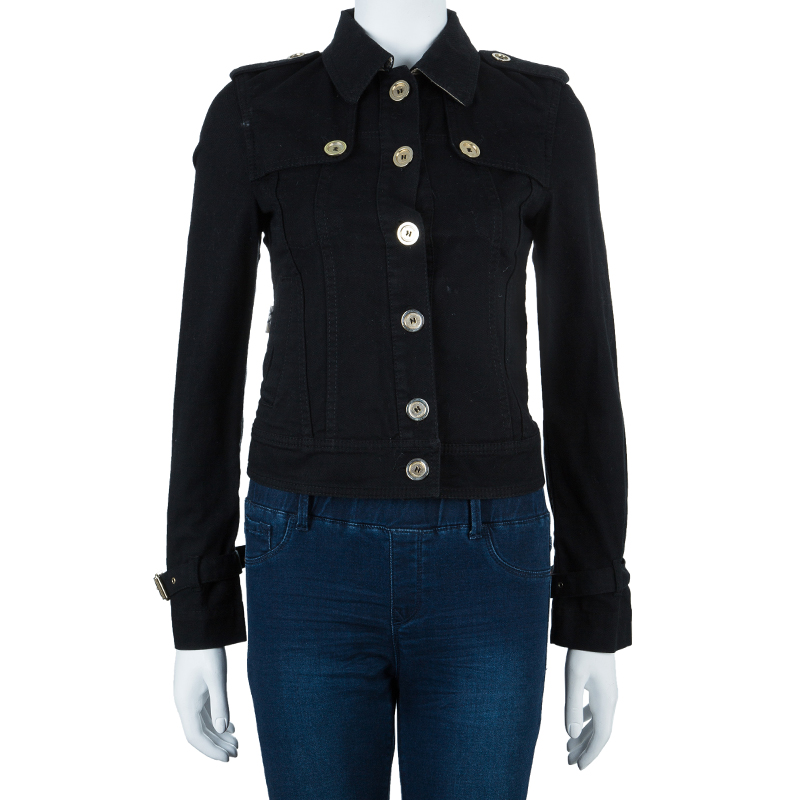 Burberry London Black Denim Jacket S