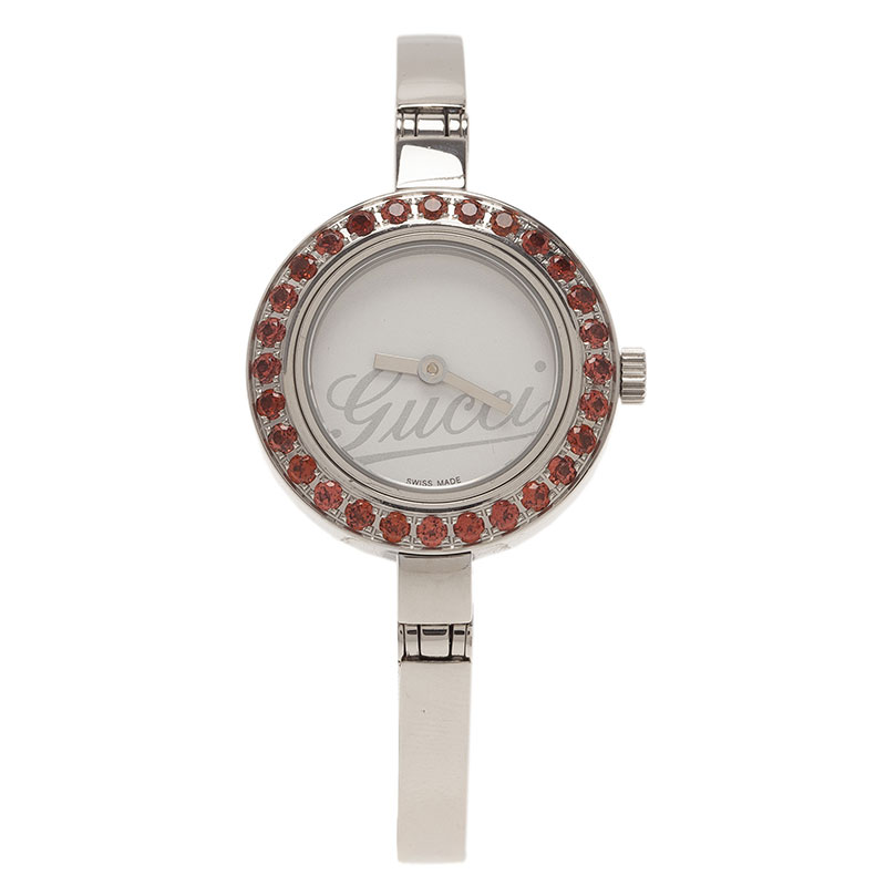 Gucci White Stainless Steel 105 Women's Wristwatch 25MM