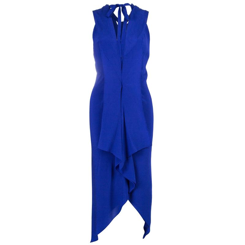 Diane Von Furstenberg Panos Silk Cobalt Dress M