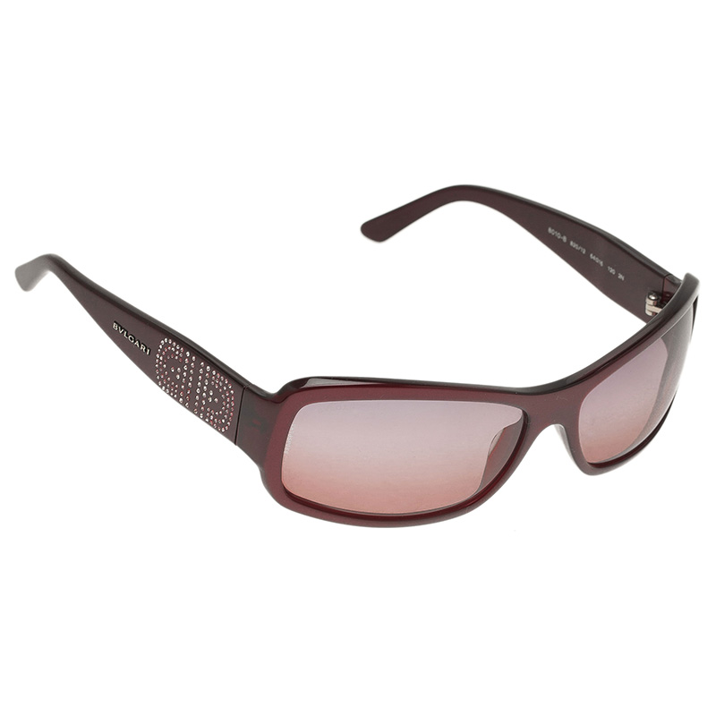 Bvlgari Purple 8010 Rectangle Sunglasses
