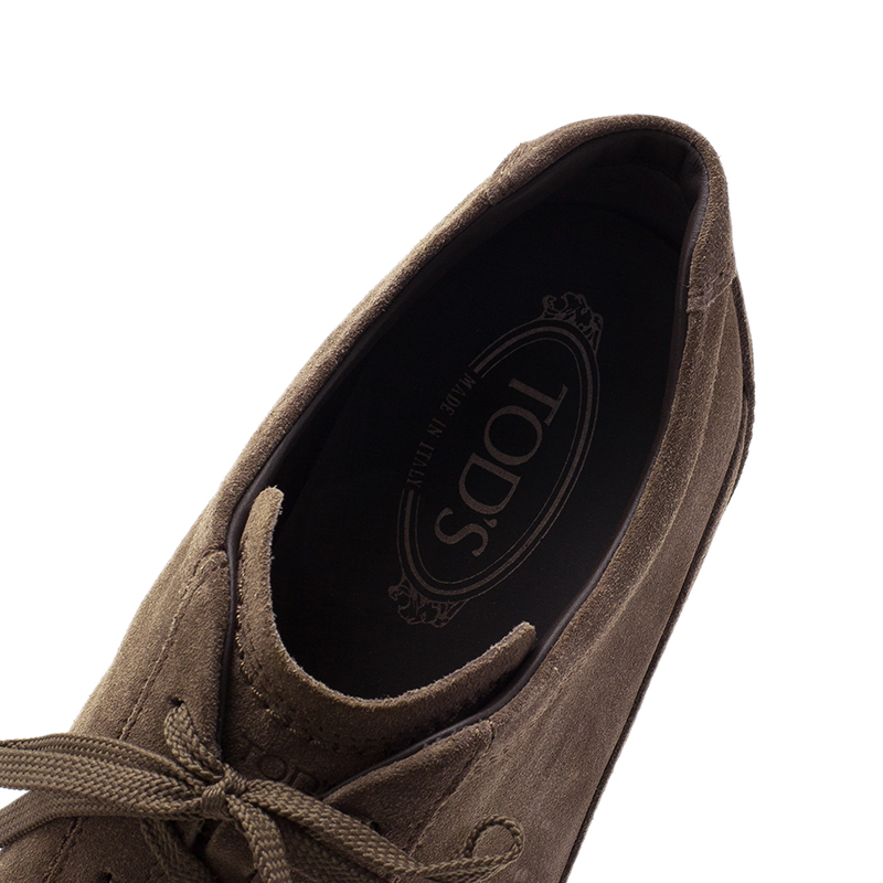 Tod's Brown Suede Sneakers Size 42.5