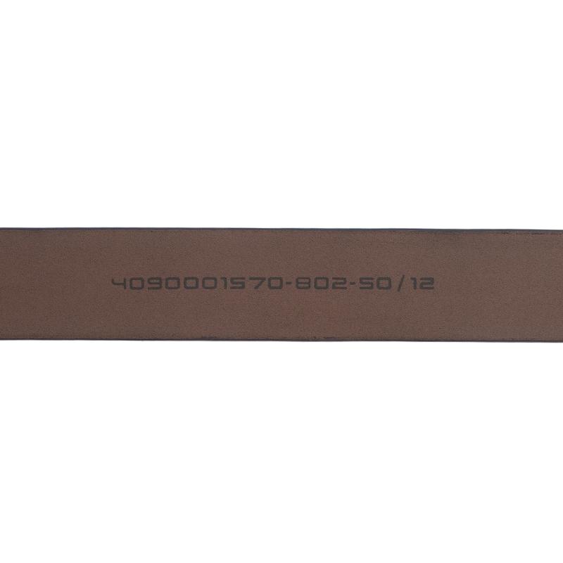 Porsche Design Dark Grey Leather Silver Logo Skinny Belt 95CM