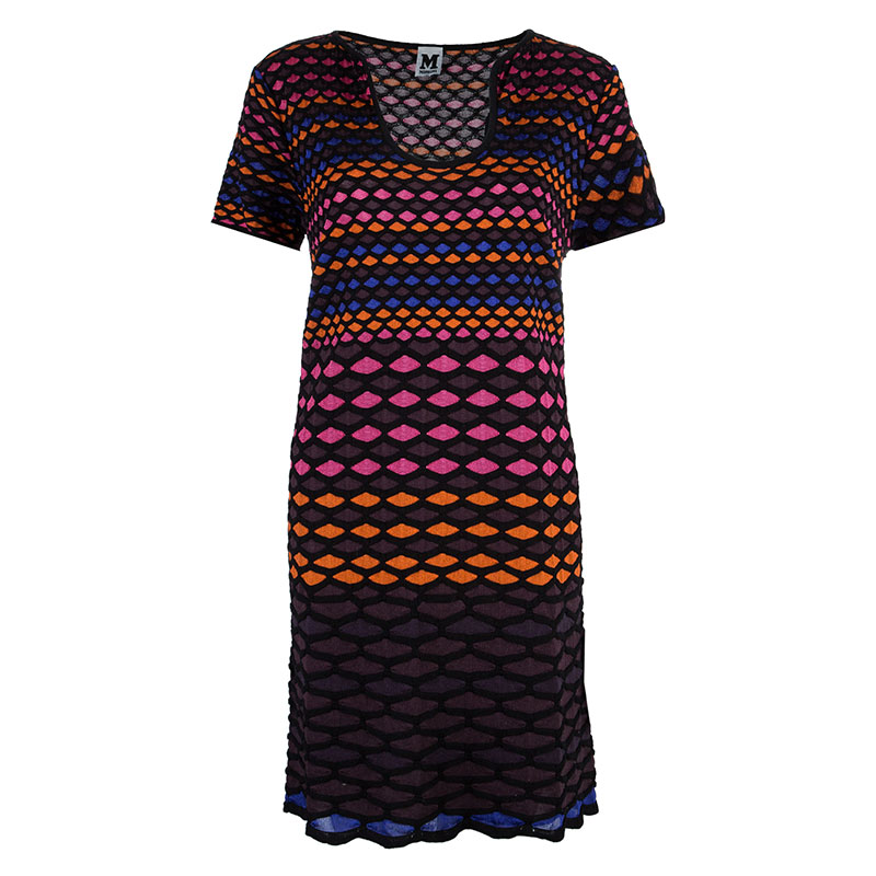 M Missoni Multicolor Geometric Knit Dress XL