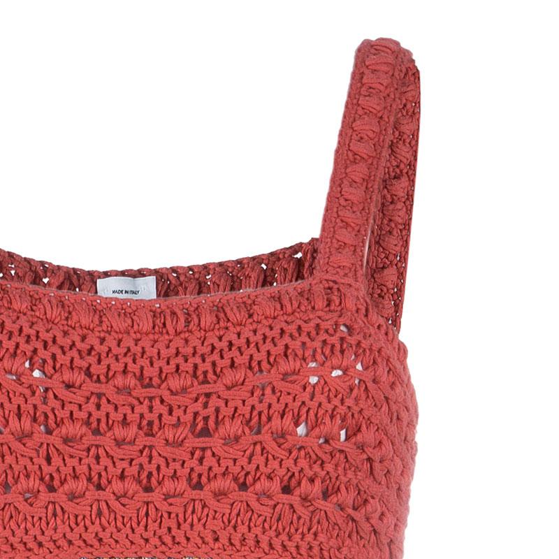 M Missoni Multicolor Crochet Knit Dress M