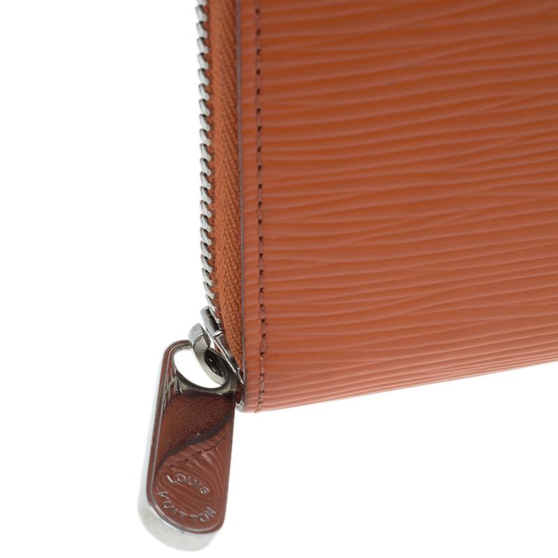 Louis Vuitton Orange Epi Leather Zippy Wallet
