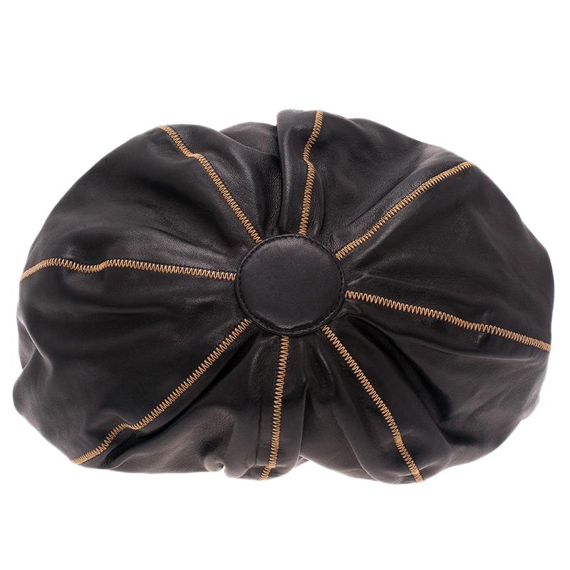 Chanel Black/Rose Leather Reversible Drawstring Tassel Bag