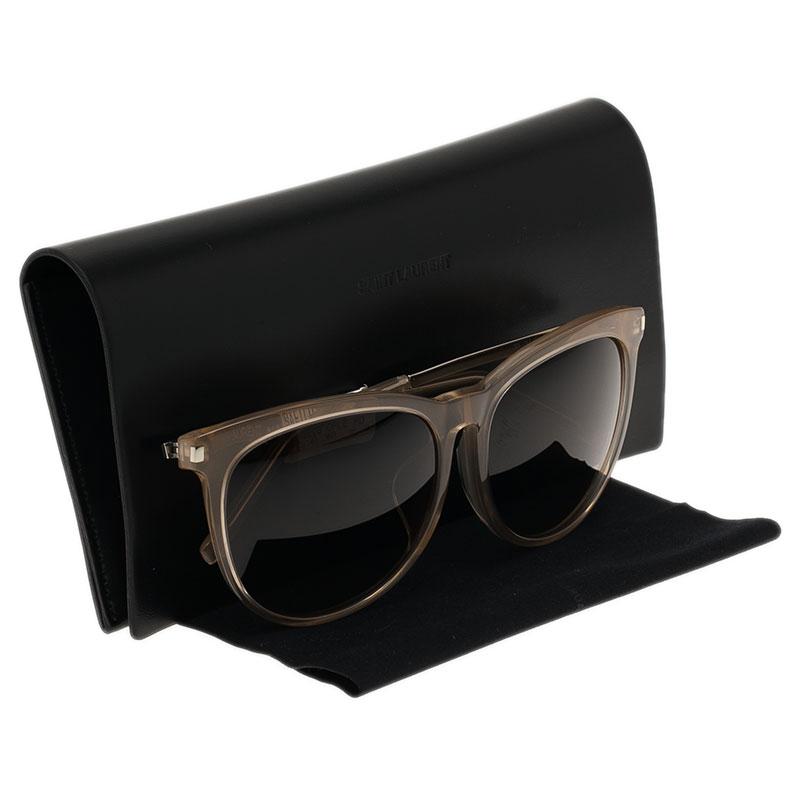 Saint Laurent Paris Beige Round Sunglasses