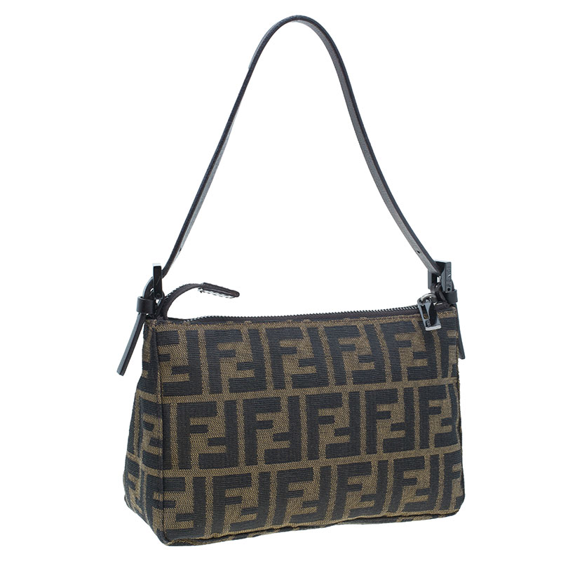 Fendi Brown Zucca Small Shoulder Bag
