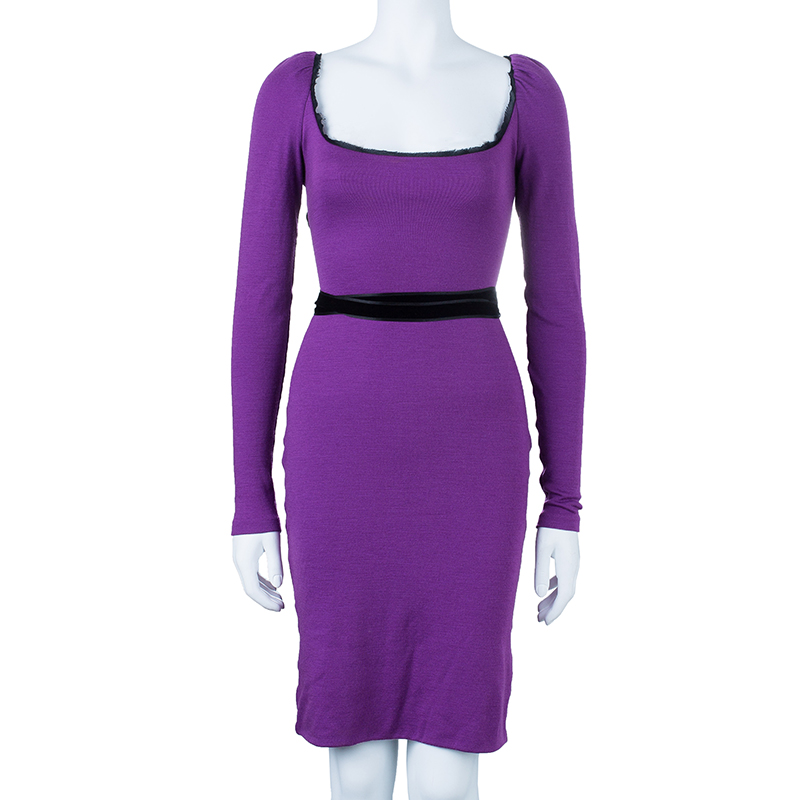 Emilio Pucci Purple Backless Tie-up Dress M