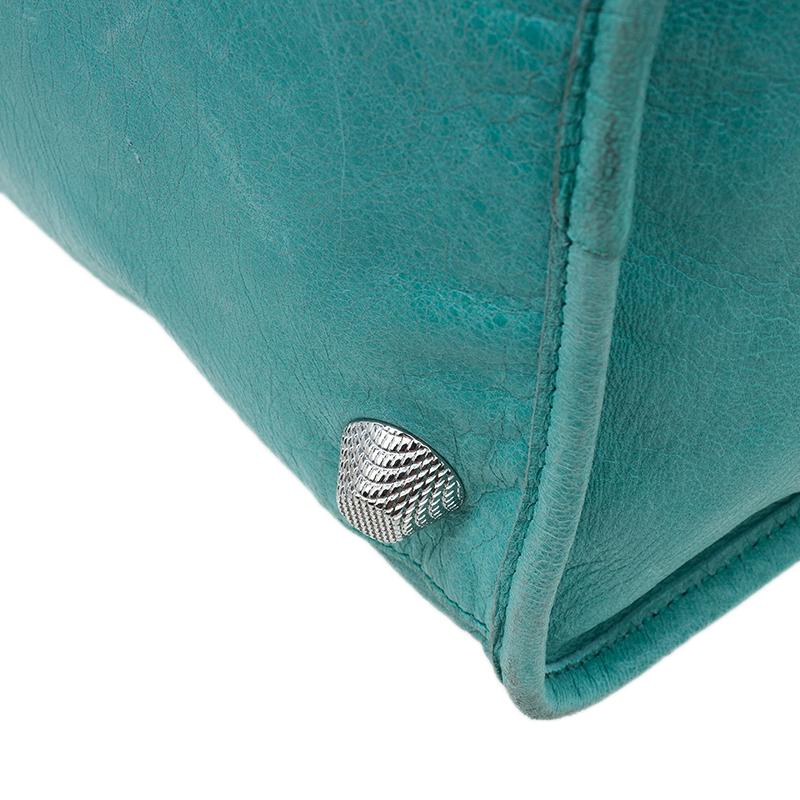 Balenciaga Light Sea Green Lambskin Leather Giant 21 Work Bag