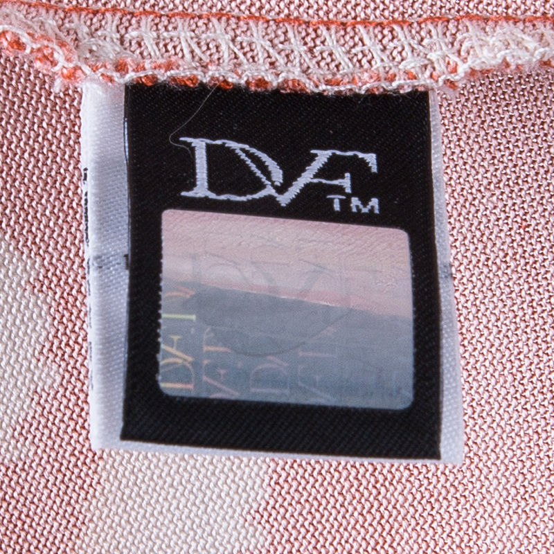 Diane von Furstenberg Tangerine Dotted New Jeanne Two Wrap Dress XS