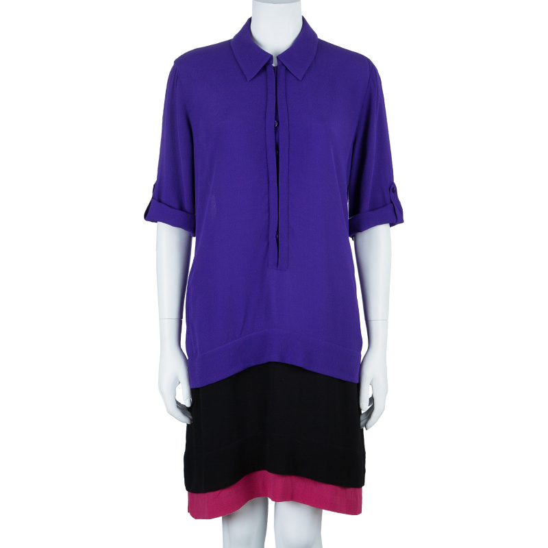 Diane Von Furstenberg Hatsu Colorblock Dress M